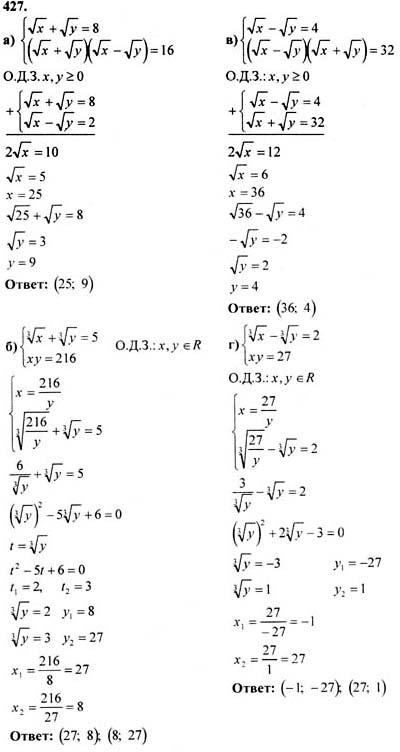 решебник алгебра 11 класс абылкасымова
